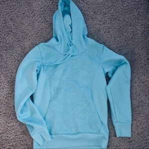 Wmns Under Armour Semi-Fitted Aqua Blue XS Hoodie